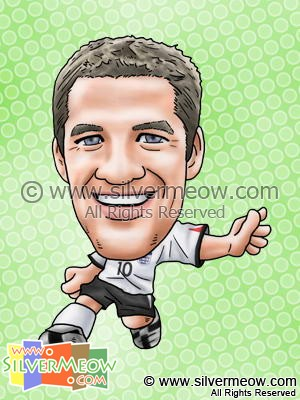 Soccer Player Caricature - Michael Owen (England)