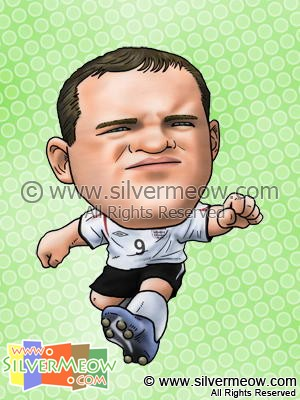 Soccer Player Caricature - Wayne Rooney (England)