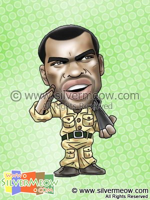 Soccer Player Caricature - Ashley Cole (England)