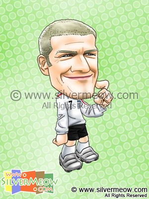 Soccer Player Caricature - David Beckham (England)