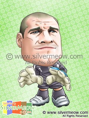 Soccer Player Caricature - Paul Robinson (England)