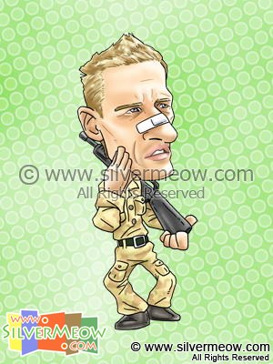 Soccer Player Caricature - Peter Crouch (England)
