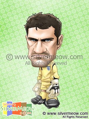 Soccer Player Caricature - Scott Carson (England)