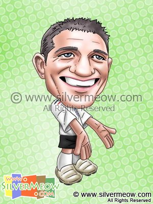 Soccer Player Caricature - Frank Lampard (England)