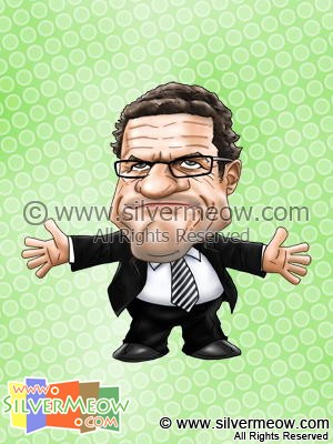 Soccer Player Caricature - Fabio Capello (England)