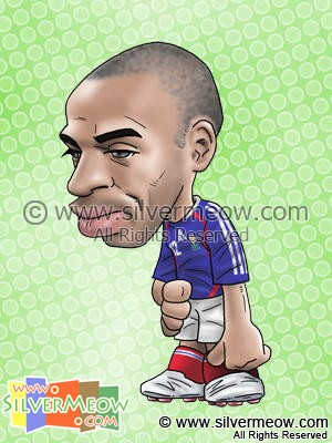 Soccer Player Caricature - Thierry Henry (France)