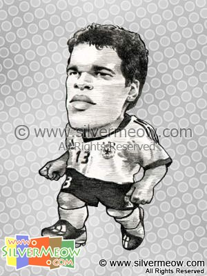 Soccer Player Caricature - Michael Ballack (Germany)