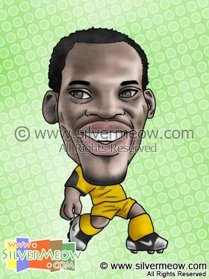 Soccer Player Caricature - Michael Essien (Ghana)