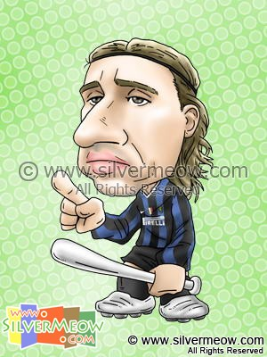Soccer Player Caricature - Hernan Crespo (Inter Milan)