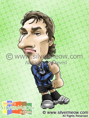 Soccer Player Caricature - Zlatan Ibrahimovic (Inter Milan)
