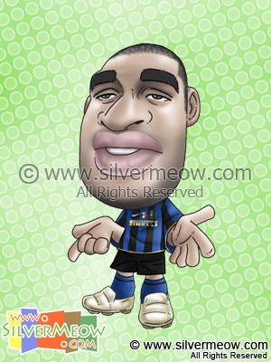 Soccer Player Caricature - Adriano (Inter Milan)