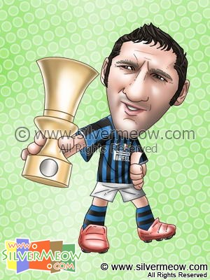 Soccer Player Caricature - Marco Materazzi (Inter Milan)