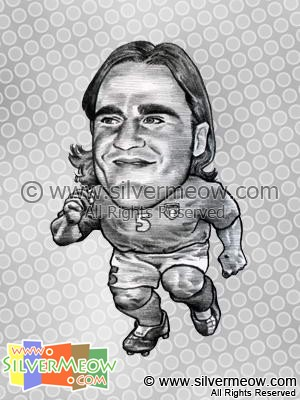 Soccer Player Caricature - Fabio Cannavaro (Italy)