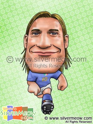 Soccer Player Caricature - Francesco Totti (Italy)