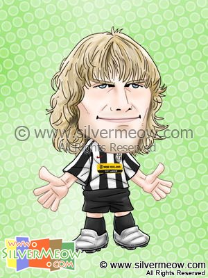 Soccer Player Caricature - Pavel Nedved (Juventus)