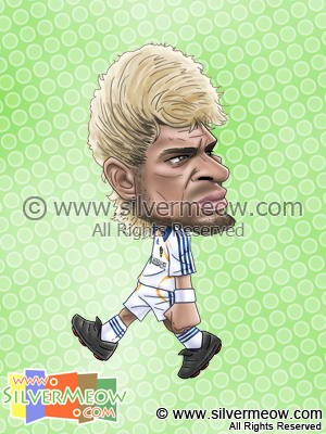 Soccer Player Caricature - Abel Xavier (LA Galaxy)