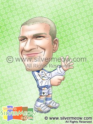 Soccer Player Caricature - David Beckham (LA Galaxy)