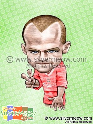 Soccer Player Caricature - Danny Murphy (Liverpool)