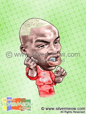 Soccer Player Caricature - El-Hadji Diouf (Liverpool)