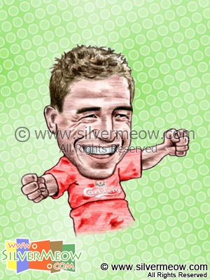 Soccer Player Caricature - Harry Kewell (Liverpool)