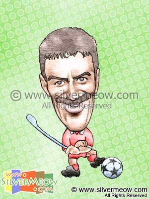 Soccer Player Caricature - Ian Rush (Liverpool)