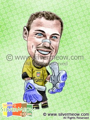 Soccer Player Caricature - Jerzy Dudek (Liverpool)