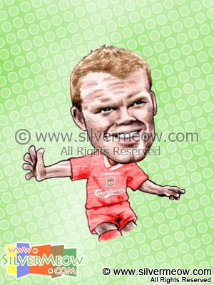 Soccer Player Caricature - John Arne Riise (Liverpool)