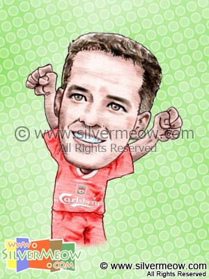 Soccer Player Caricature - Michael Owen (Liverpool)