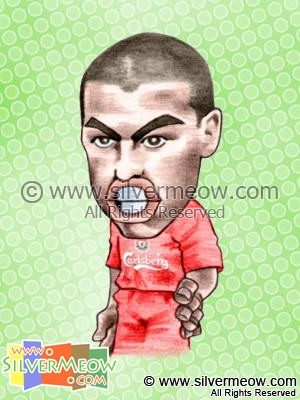 Soccer Player Caricature - Milan Baros (Liverpool)