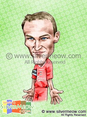 Soccer Player Caricature - Sami Hyypia (Liverpool)