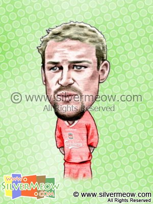 Soccer Player Caricature - Stephane Henchoz (Liverpool)