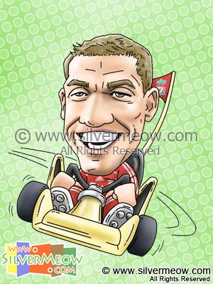 Soccer Player Caricature - Craig Bellamy (Liverpool)
