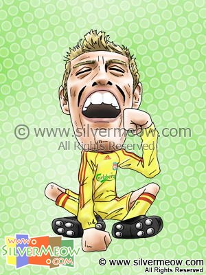 Soccer Player Caricature - Peter Crouch (Liverpool)