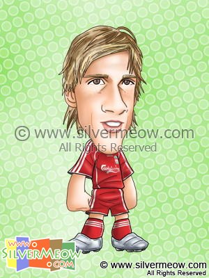 Soccer Player Caricature - Fernando Torres (Liverpool)