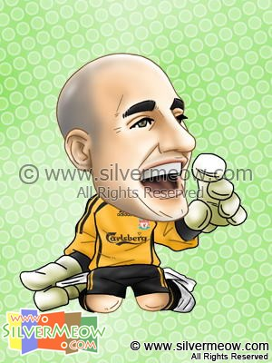 Soccer Player Caricature - Pepe Reina (Liverpool)