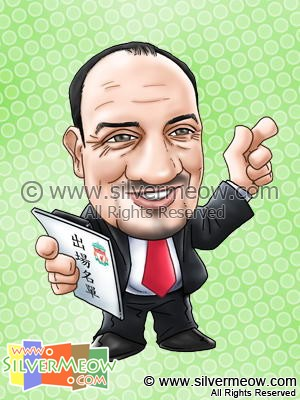 Soccer Player Caricature - Rafael Benitez (Liverpool)