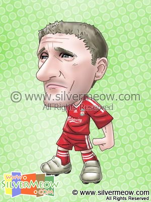 Soccer Player Caricature - Robbie Keane (Liverpool)