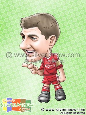Soccer Player Caricature - Steven Gerrard (Liverpool)