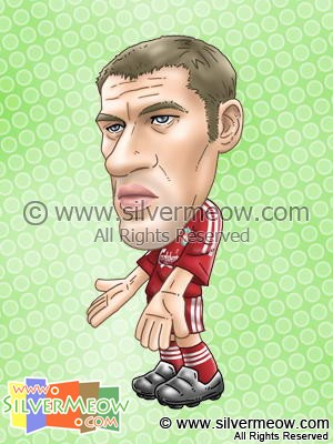 Soccer Player Caricature - Jamie Carragher (Liverpool)