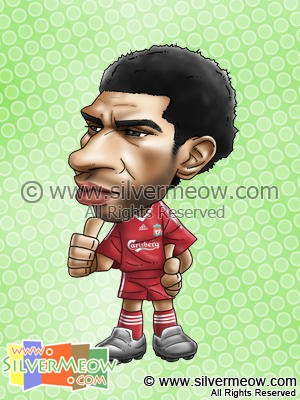 Soccer Player Caricature - Jermaine Pennant (Liverpool)