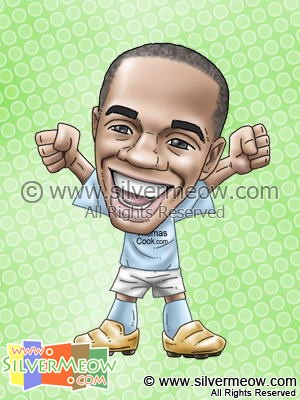 Soccer Player Caricature - Robinho (Manchester City)