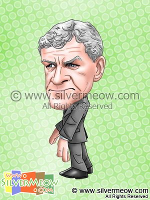 Soccer Player Caricature - Mark Hughes (Manchester City)