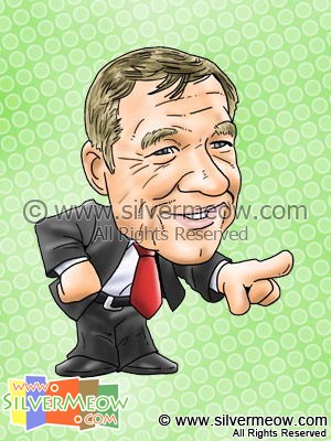Soccer Player Caricature - Alex Ferguson (Manchester United)