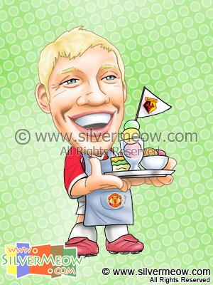 Soccer Player Caricature - Alan Smith (Manchester United)