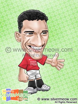 Soccer Player Caricature - Nani (Manchester United)