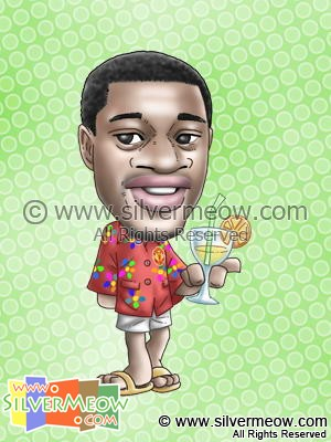 Soccer Player Caricature - Patrice Evra (Manchester United)