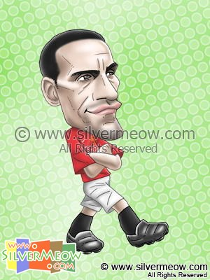 Soccer Player Caricature - Rio Ferdinand (Manchester United)
