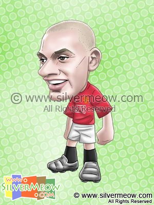 Soccer Player Caricature - Wes Brown (Manchester United)