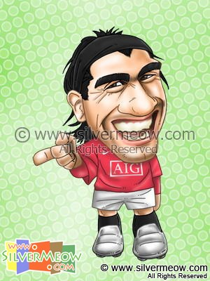 Soccer Player Caricature - Carlos Tevez (Manchester United)