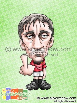 Soccer Player Caricature - Gary Neville (Manchester United)